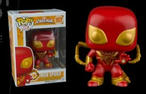 Exclusive-Iron-Spider-107-Funko-Pop-Vinyl-New-in-Box