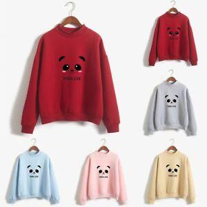 Fashion-Women-Long-Sleeve-Loose-Panda-Printed-Sweatshirt-Blouse-Tops-T-Shirt