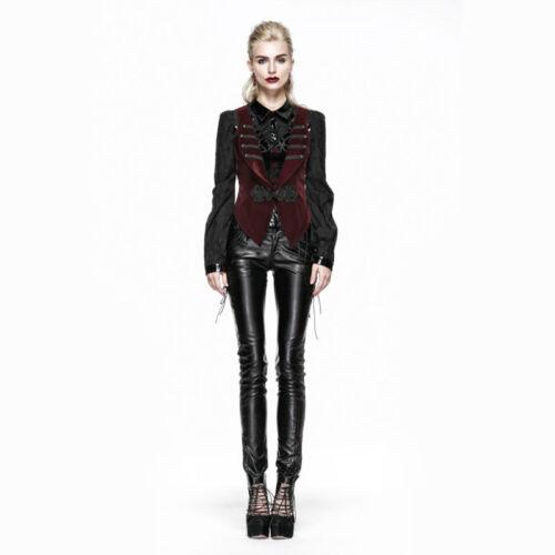 New PUNK RAVE Heavy Metal Rock Gothic Leather Black pants K-203 AUSTRALIAN STOCK