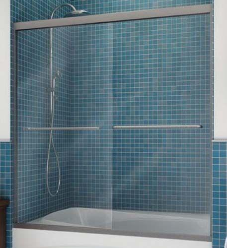 Maax Frameless By Pass Shower Door Clear Glass 71h X 57 To 59 12w