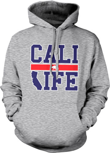 Cali Life Home California Pride Hollywood State Outline Hoodie Pullover