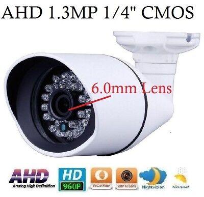 AHD 1.3MP 960P HD Waterproof IR-CUT outdoor Camera 30IRxF0.5mm 2MP 3.6mm Lens