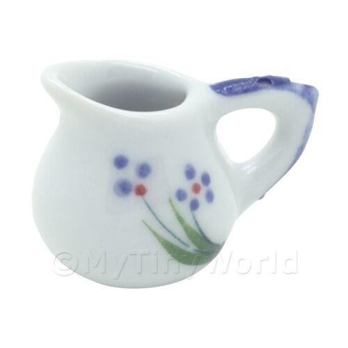 2x Casa de Muñecas en Miniatura Púrpura Flor Diseño De Cerámica Jarros Simple
