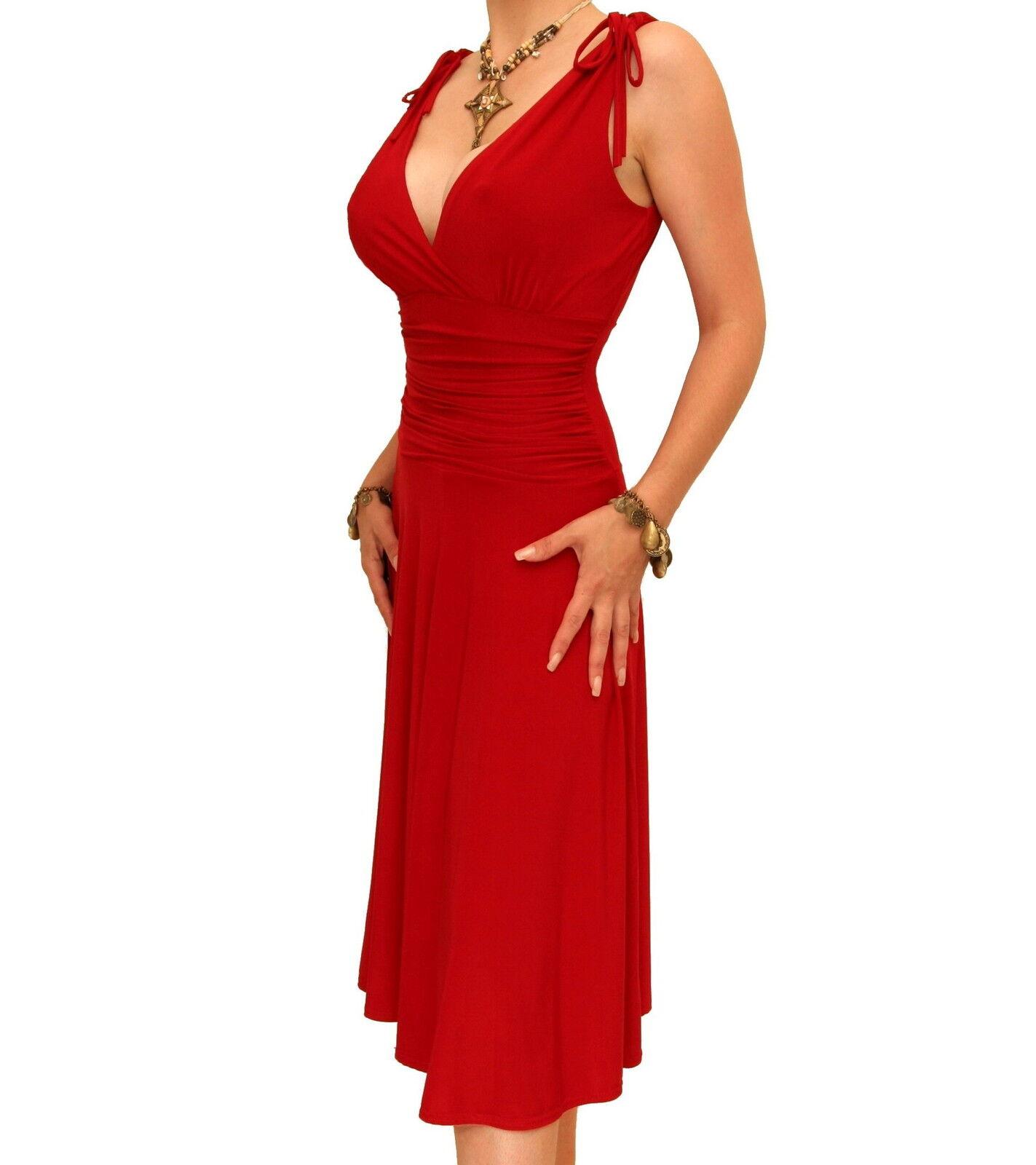 New Elegant Grecian Style Evening Dress - Knee Length