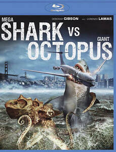 MEGA SHARK Vs GIANT OCTOPUS BluRay DebbieGibson Lorenzo Lamas Factory SEALED New