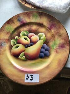 "Royal Worcester Fruits Cabinet Plate 10.5"" Signed T Clark"