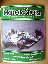 MOTOR SPORT MAGAZINE- BMW M3 & M5: SIERRA RS COSWORTH TEST, OCTOBER 1986