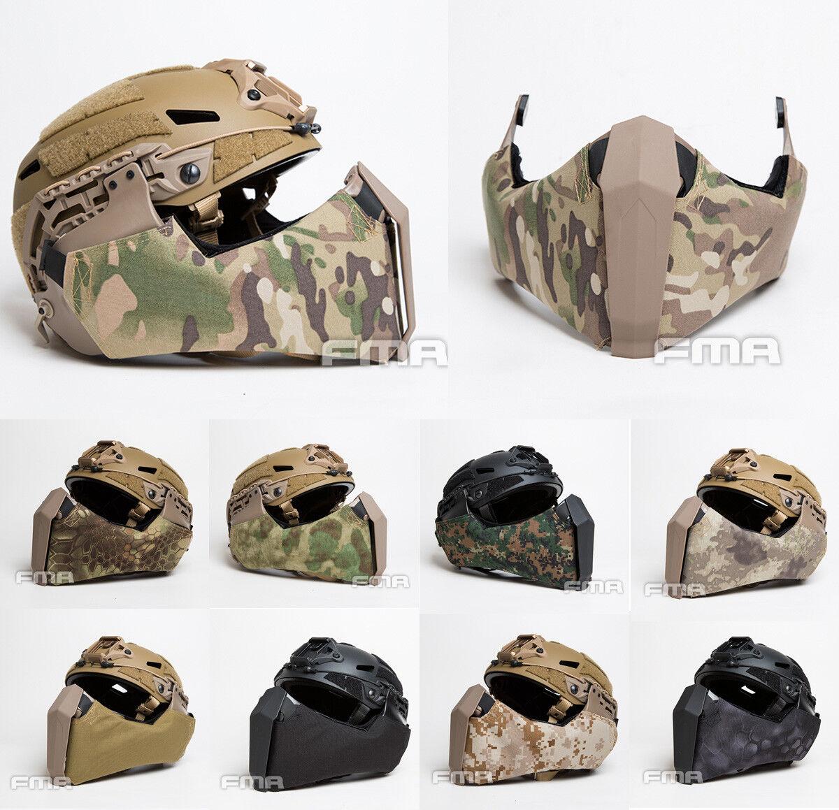 FMA Gunsight Mandible Tactical Half Face Mask for Highcut Helmet Side Guide Rail