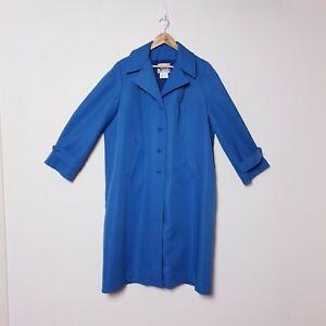 Sanro-Melbourne-Plus-Size-20-Vintage-Blue-Water-Repellent-Trench-Coat