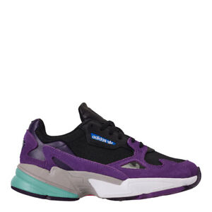 Details about adidas Women's Originals Falcon Shoes: Purple/Black - CG6216