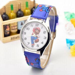Reloj de Pulsera infantil Super Mario Bross correa azul marino navy esfera logo | eBay