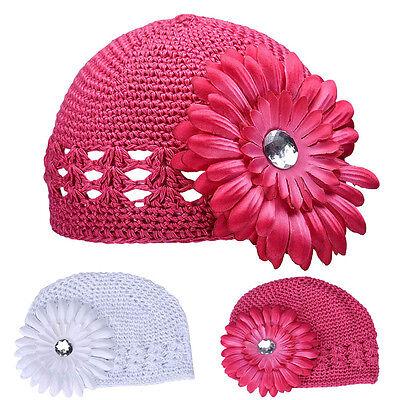 Floral Toddler Kids Girls Boys Baby Newborn Winter Warm Knitted Hat Beanie Cap