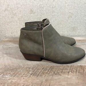e1437323f43ffb Sam Edelman Girl s Size 3 Petty Side Zip Ankle Booties Taupe