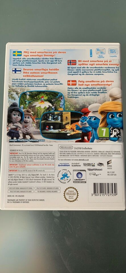 The Smurfs 2, Nintendo Wii, adventure