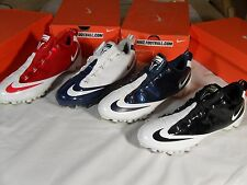 NIB Mens Nike Air Zoom Vapor Carbon Fly TD Football Cleats Black White Blue Red