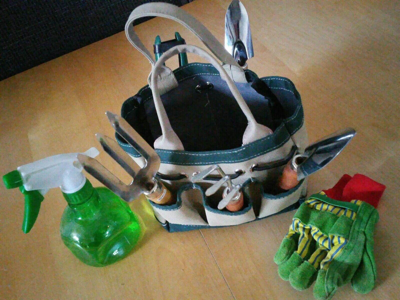 MINI Gardening Set ORGANIZER W/TOOLS IN CARRYING BAG 10
