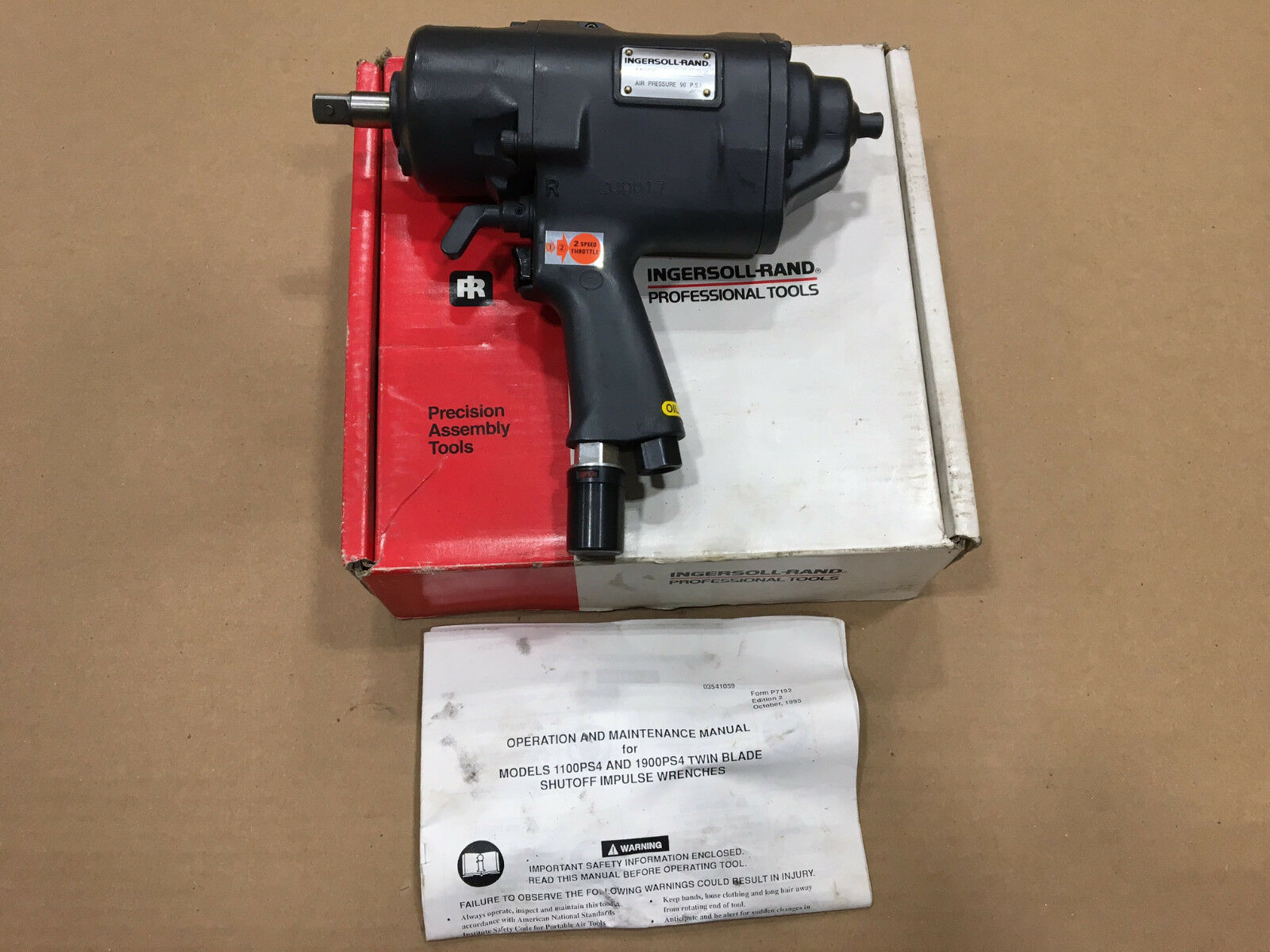 Ingersoll Rand Pneumatic Pulse Impact Wrench IR-1900PS4