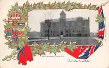 TRURO, NOVA SCOTIA, CANADA, NEW ACADEMY, FLAG & LEAF BORDER used RPO Cancel 1904