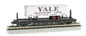 Bachmann-16755-N-Atlantic-Coast-Lines-Flat-car-road-77069-With-Yale-trailer