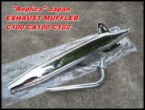 HONDA C100 CA100 C102 CA102 C105 CA105 C65 EXHAUST PIPE & MUFFLER // REPLICA