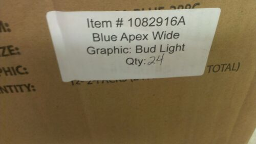 2 BUD LIGHT CAN /& BOTTLE DISPLAY HOLDER SYSTEM ISEE APEX APX-5C-1001-BLUE NEW
