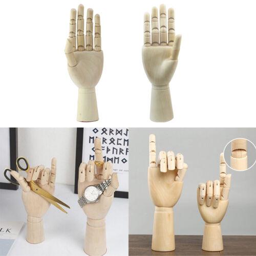 1 Paar 18cm Holz Schaufensterpuppe Hände Kinder Hände Modell Skizzieren