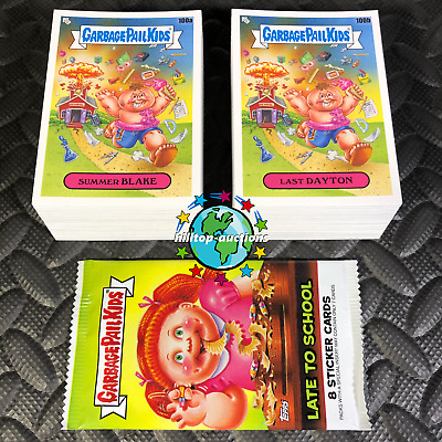GPK Garbage Pail Kids Late to School FULL 200 CARD SET A /& B INCLUDED