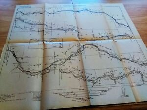 1914 Usgs Profile Map Santiam River Oregon George Otis Smith Ebay