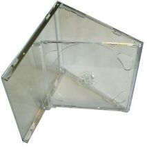 25 Double CD Jewel Case 10.4mm with Clear FOLD-OUT Tray Empty Replacement HQ AAA