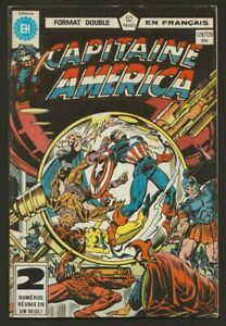 Captain-Capitaine-America-128-129-Double-Format-in-French-Heritage-Marvel-1982
