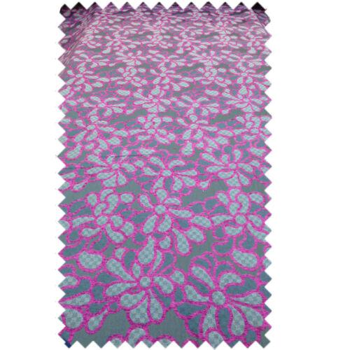 Nouveau luxe tissu floral rose gris motif rideau Craft Tapisserie type