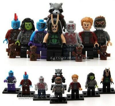 Groot 10 MINI FIGURES FIT LEGO GUARDIANS OF THE GALAXY MINIFIGS 2020 AVENGERS