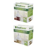Food Saver Jar Vacuum Sealer Bundle Regular Wide Mouth Attachment Lid Cover