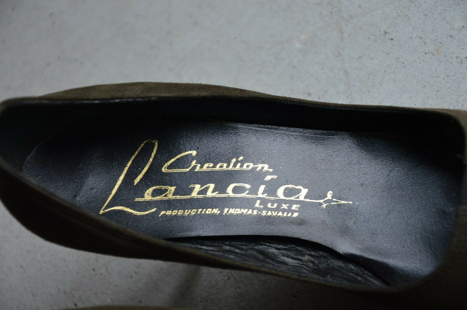 Creation Creation Creation Lancia Luxe Pumps Spitz green black 60er True Vintage 60s OVP NOS e99ce6