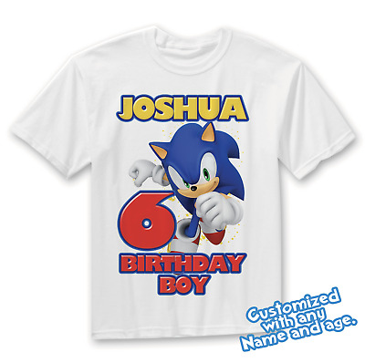 Sonic The Hedgehog Birthday Shirt Sonic Birthday Shirt Sonic And Tails Party Ebay