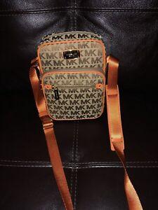 99a47d236b51 Image is loading NWT-MichaeL-Kors-Monogram-Crossbody-Handbag