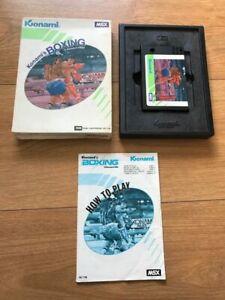 MSX-ROM-Cartridge-Konami-039-s-Boxing-RC-736-Boxed-Complete