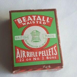 Vintage-1950s-Beatall-Waisted-British-Made-Air-Rifle-Pellets-22-No-2-Bore