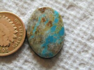 Natural Royston Ribbon Boulder Turquoise Cab 17 carat American Nevada Cabochon USA
