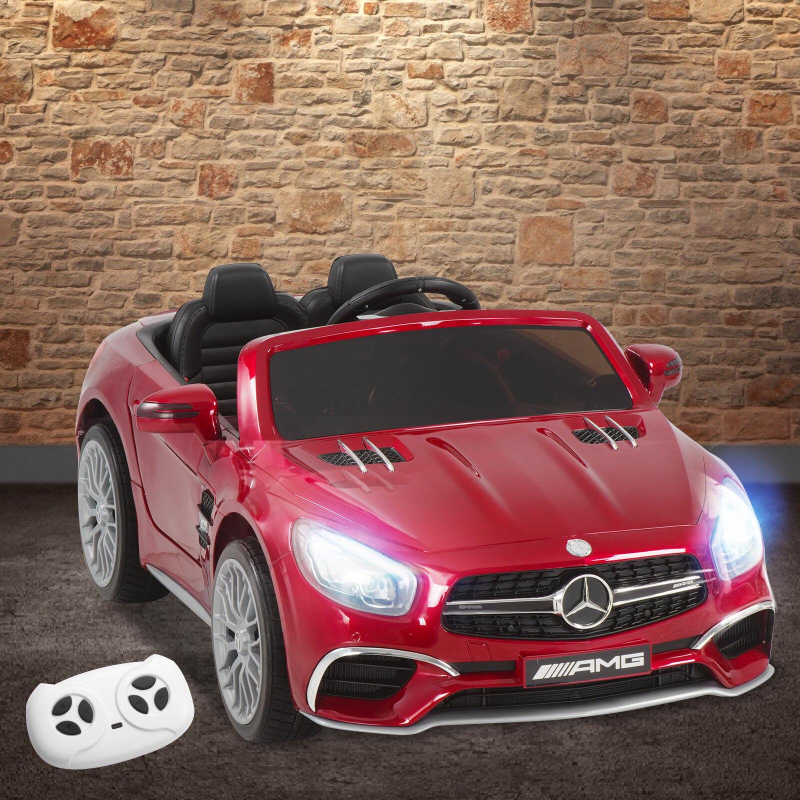 Mercedes Benz AMG SL65 Red 12V Battery Kids Ride On Car Licensed Remote Control