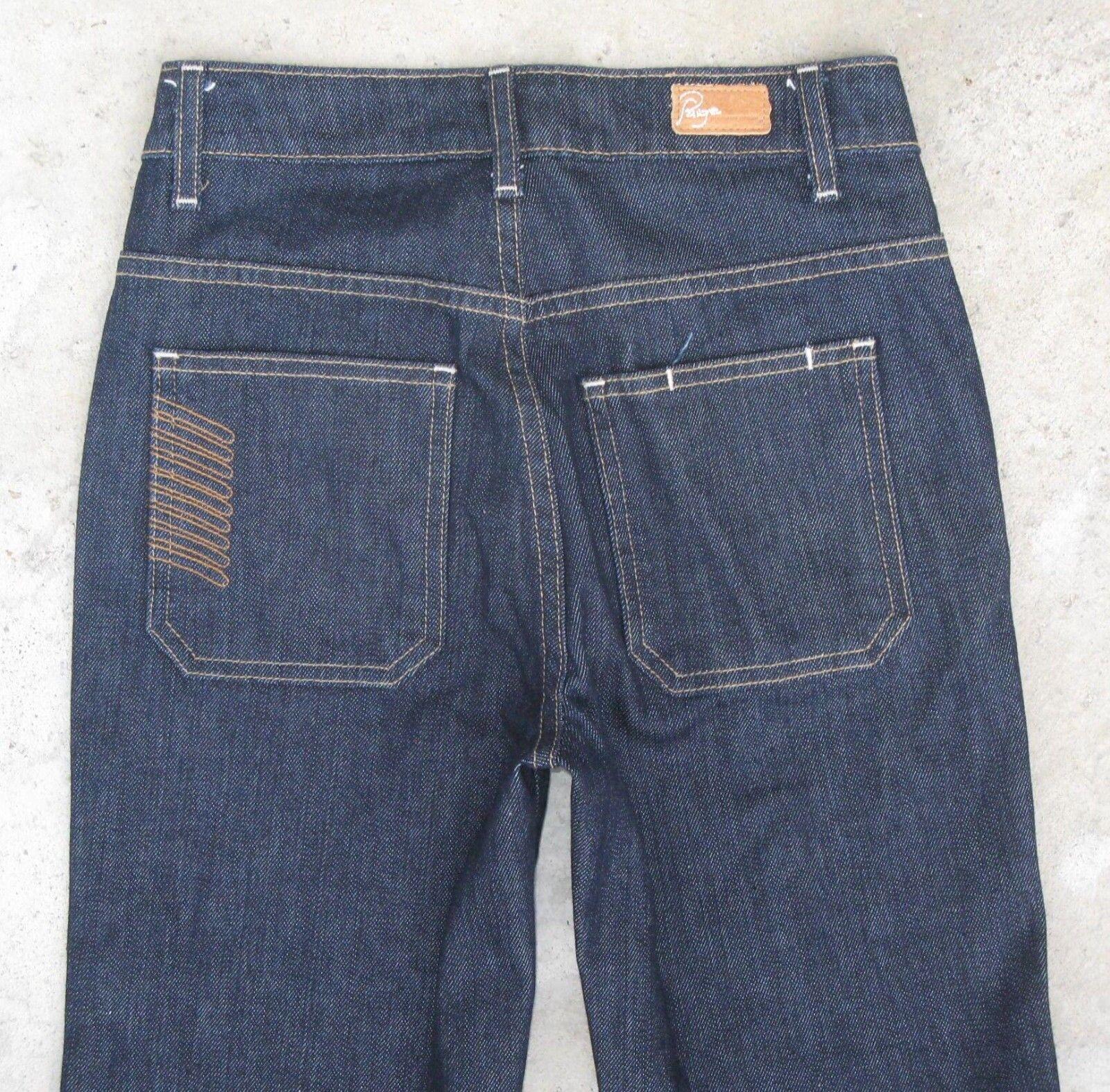 Paige Premium Jeanshose Hohe Größe Schlaghose Dunkelblau Sz 24 Neu
