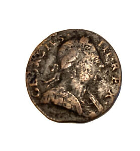1776 Non-regal George III Halfpenny Colonial Coin.