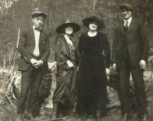 West-Virgina-Coal-Miner-Family-Dressed-Up-Fashion-Appalachia-1915-Antique-Photo