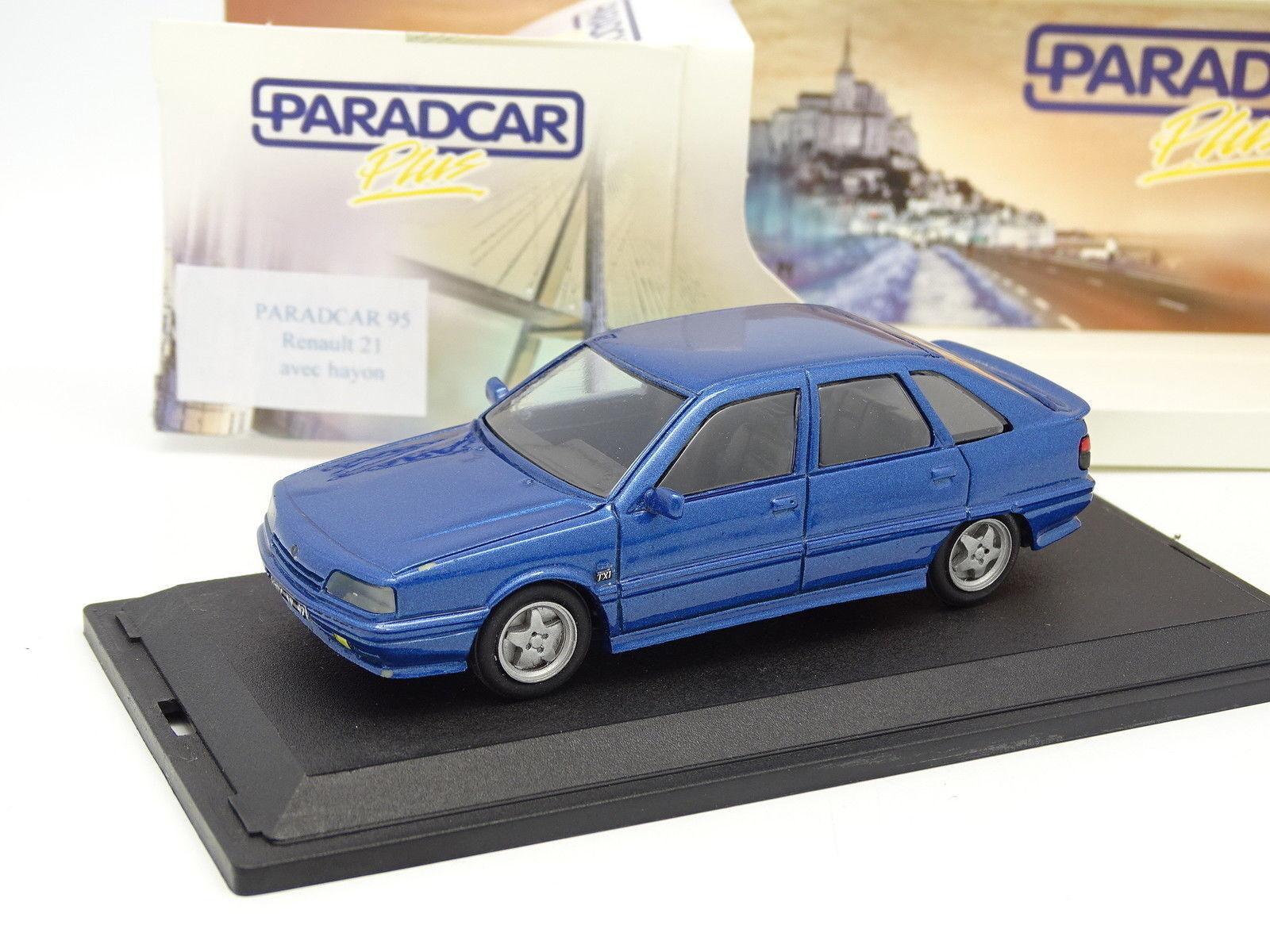 Paradcar Resin 1 43 - Renault 21 Txi 5 Doors bluee