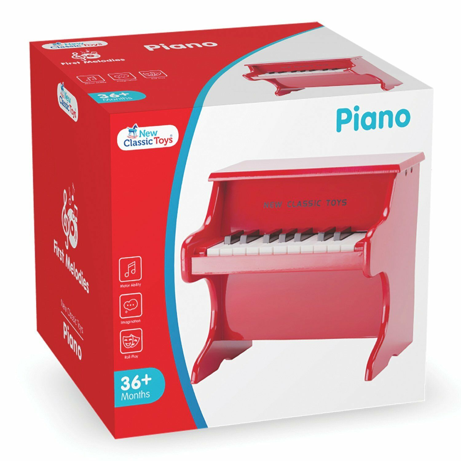 New Classic Toys - 10155 - Musical Musical Musical Toy Instruments - Toy Piano - rot - 18 keys d03d87
