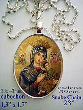 Medalla porcelana cerámica NTRA SRA PERPETUO SOCORRO Our Lady of Perpetual Hel