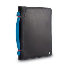 DuDu Cartella portadocumenti A4 in pelle NERA multicolore e porta iPad tablet