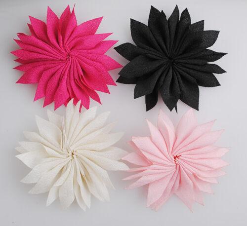 Upick 16//48pcs Cute Ribbon Flowers Wedding Sewing DIY Crafts Appliques A0170