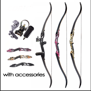 3-Color-30-50lbs-Recurve-Bow-56-034-American-Hunting-Split-Bow-With-DIY-Accessories
