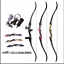 thumbnail 1 - 3-Color-30-50lbs-Recurve-Bow-56-034-American-Hunting-Split-Bow-With-DIY-Accessories